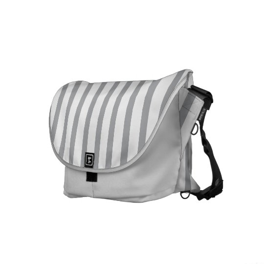 Grey and silver stripes courier bags