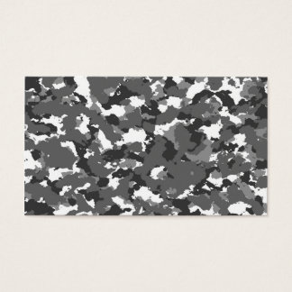 Grey and White camo Business Card