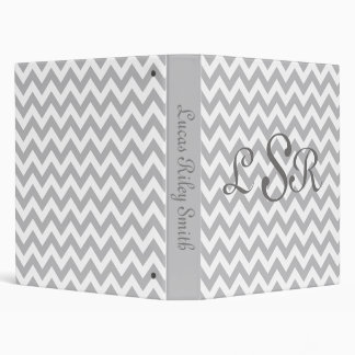 Grey and White Chevron Baby Photo Album Binder