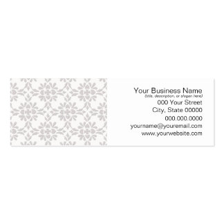Grey and White Damask Style Pattern Pack Of Skinny Business Cards