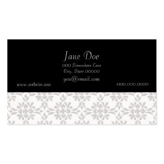 Grey and White Damask Style Pattern Pack Of Standard Business Cards