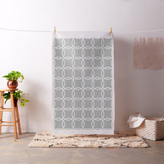 Grey and white Geometric Pattern Fabric