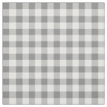 Grey And White Gingham Check Pattern Fabric