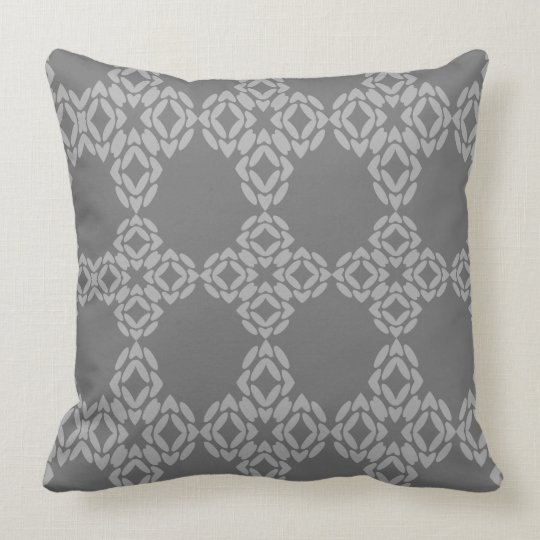 Grey And White Kaleidescope Throw Pillow