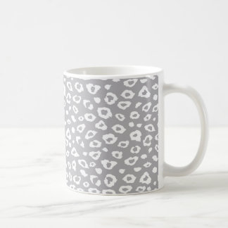 Grey and White Leopard Print Coffee Mug