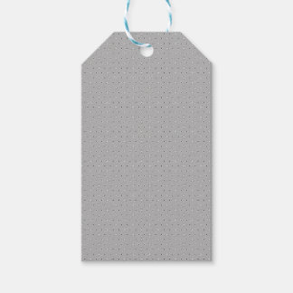 Grey and White Pattern Snowflake Flower print Gift Tags
