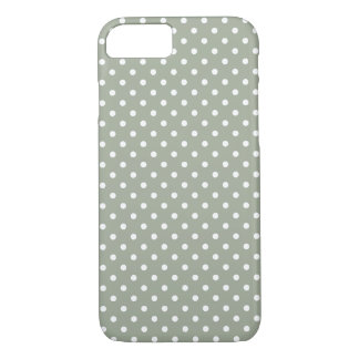 Grey And White Polka Dot Pattern iPhone 7 Case