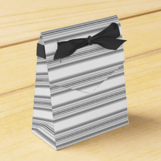 Grey and White Striped Favor Box