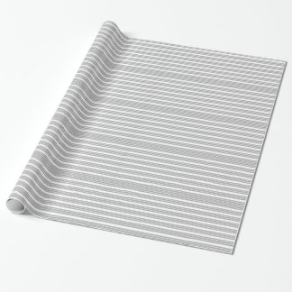 Grey and White Striped Wrapping Paper
