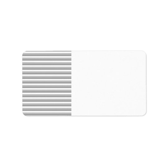 Grey and white stripes. Pattern. Label