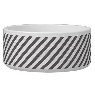 Grey and white stripes - Pet Bowl
