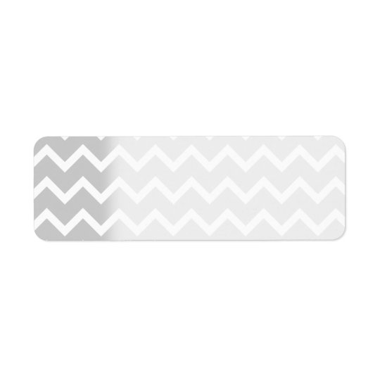 Grey and White Zigzag Stripes. Return Address Label