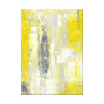 Grey and Yellow Abstract Art Canvas Print