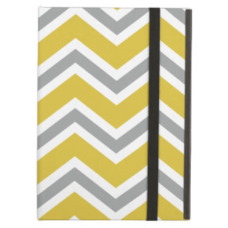 Grey and Yellow Chevron iPad Air Case