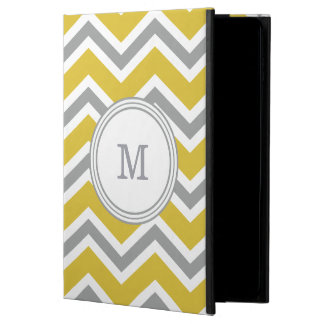 Grey and Yellow Monogram Chevron iPad Air 2 Case