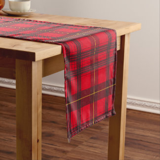 Grey and Yellow Tartan Custom Table Runner