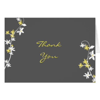 Grey and Yellow Thank You cards