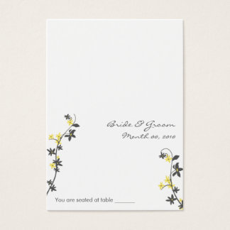 Grey and Yellow Wedding Placecards Business Card