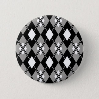 Grey Argyle Preppy Button