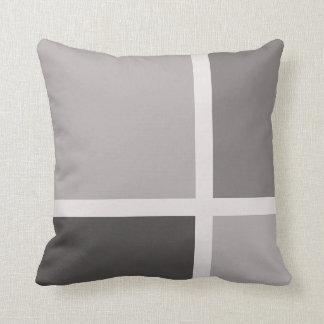 Grey Asymmetric Square/Rectangle Pattern Pillow 5