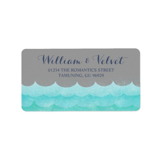 Grey At Sea Nautical Wedding Labels