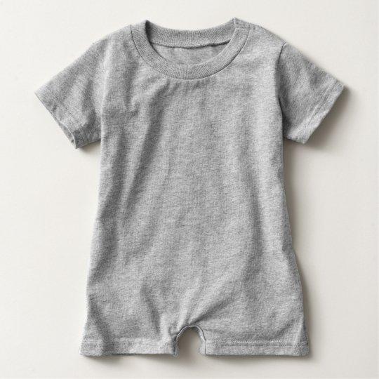 Grey Baby Romper