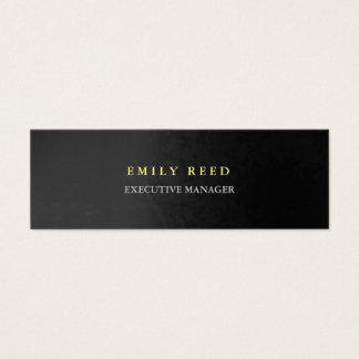 Grey background modern simple professional slim mini business card