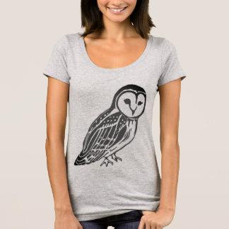 Grey Barn Owl Women's Scoop Neck T-Shirt