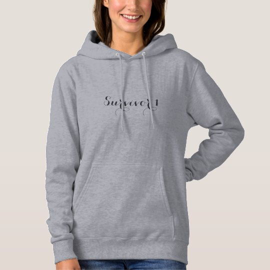 Grey Basic Hooded Survivor 1 Sweatshirt