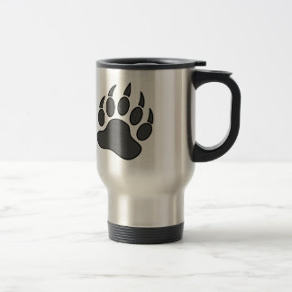 Grey Bear Pride Bear Paw Symbol Travel Mug