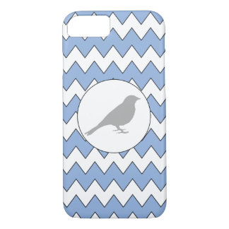 Grey Bird Zig Zag Light Blue iPhone Protector iPhone 7 Case
