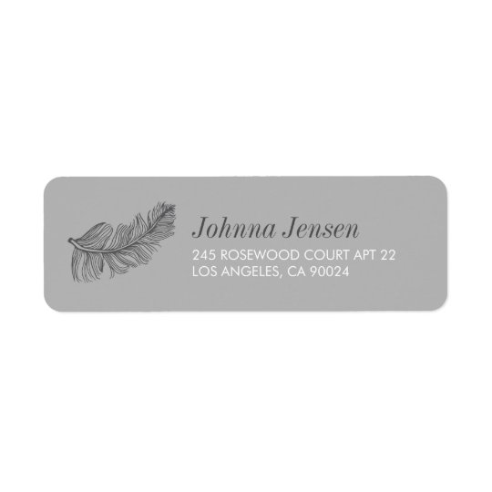 Grey Birds of a Feather Return Address Return Address Label