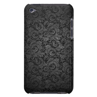 Grey & black Damask pattern ipod case