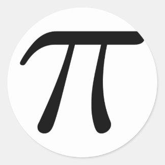 Grey Black Gray Yellow Orange Pi 3.14 symbol Math Round Sticker