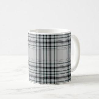 Grey Black Large Tartan Plaid Coffee Mug