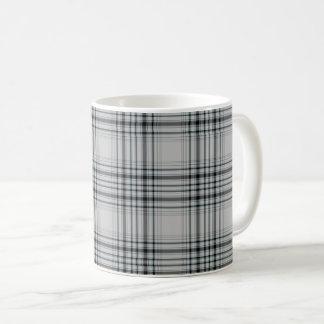 Grey Black Tartan Plaid Coffee Mug