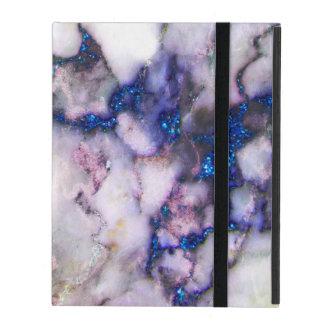 Grey Blue And Pink Marble Stone iPad Folio Case