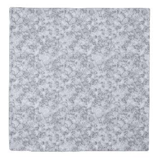 Grey Blue marble Duvet Cover