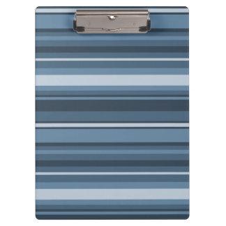 Grey-blue stripes clipboards