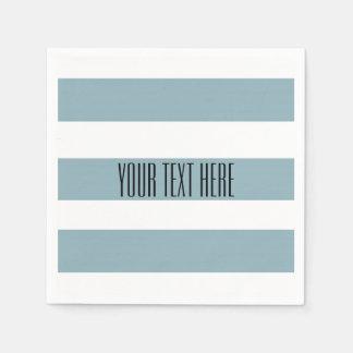 Grey Blue Stripes Disposable Napkin