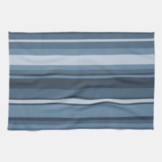 Grey-blue stripes kitchen towel