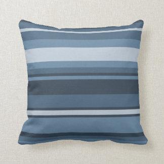 Grey-blue stripes throw pillow