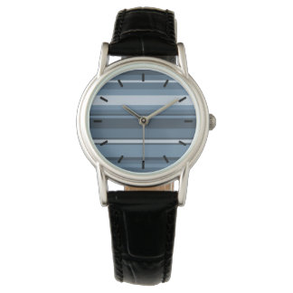 Grey-blue stripes watches