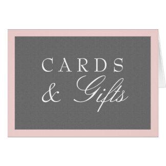 Grey & Blush Pink Cards & Gifts Wedding