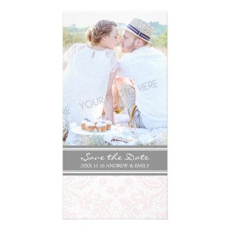 Grey Blush Save the Date Wedding Photo Cards