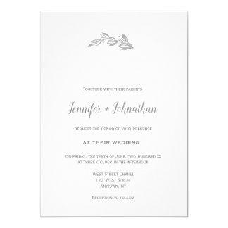 Grey branch wedding invitations