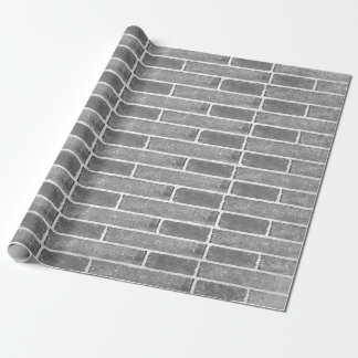 Grey Brick Wall Texture Wrapping Paper