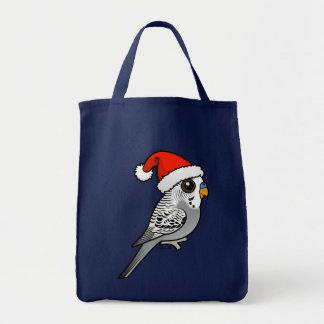 Grey Budgie Santa Claus