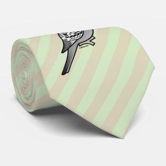 Grey Budgie Santa Claus Tie