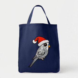 Grey Budgie Santa Claus Tote Bag